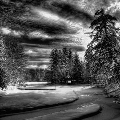 Winter Scene And Lake Photograph - Sunlit Snow On Beaver Brook by David Patterson