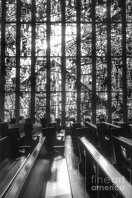 Photograph - Sunlit Stained Glass At Czestochowa Shrine, Pa by Christopher Lotito