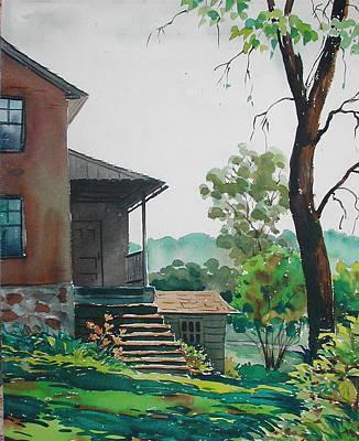 Sunlit Steps Art Print by Faye Ziegler