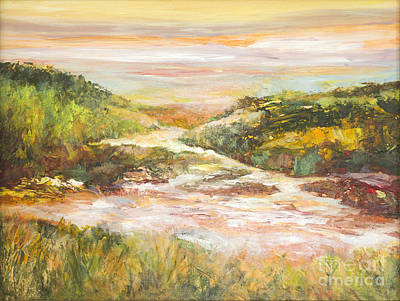 Painting - Sunlit Stream by Glory Wood