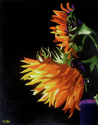 Painting - Sunlit Sunflowers by Susan Duda