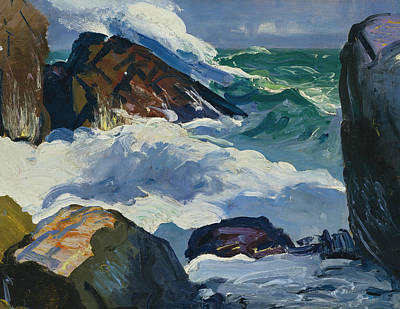 Painting - Sunlit Surf by George Bellows
