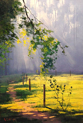 Gercken Painting - Sunlit Trail by Graham Gercken