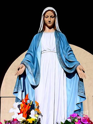 Digital Art - Sunlit Virgin Mary by Ed Weidman