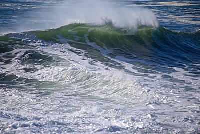 Photograph - Sunlit Wave by John Meader