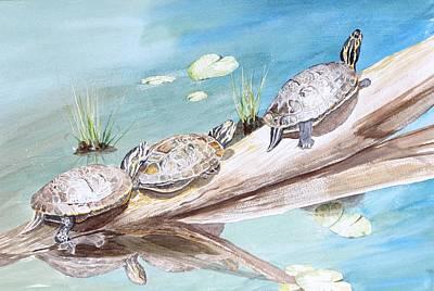 Slider Painting - Sunnen Themselves by Pat Hartman