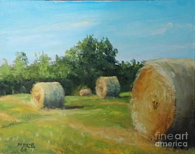 Sunner Harvest Art Print by Mike Yazel