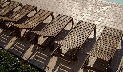 Photograph - Sunning Chairs by Deborah  Crew-Johnson