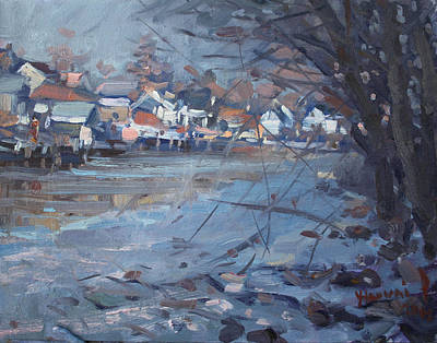 Frozen Painting - Sunny Afternoon By Frozen Waters by Ylli Haruni