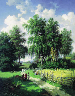 The Trees Mixed Media - Sunny Afternoon In The Meadows by Georgiana Romanovna
