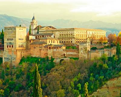 Photograph - Sunny Alhambra by Rita Mueller