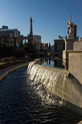 Photograph - Sunny And Still - Las Vegas Morning At Caesars Palace by Georgia Mizuleva