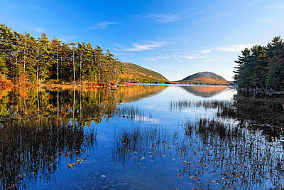 Sunny Autumn Day At Eagle Lake  Art Print