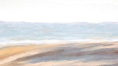 Mixed Media - Sunny Beach Dunescape by Anthony Fishburne
