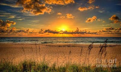 Sunny Beach To Warm Your Heart Art Print by Rod Jellison