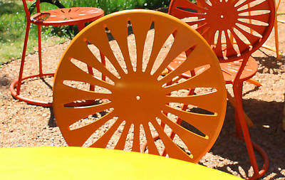 Sunny Chairs 4 Art Print by Geoff Strehlow