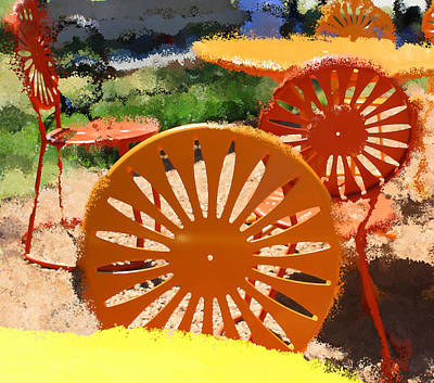 Sunny Chairs 5 Art Print by Geoff Strehlow