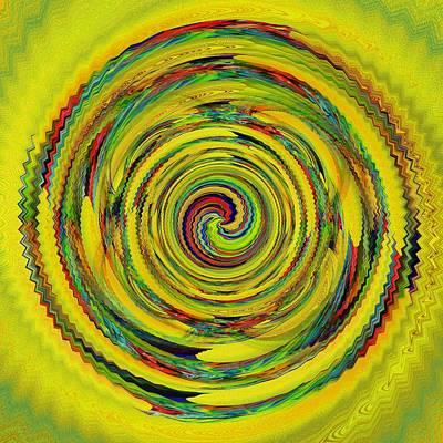 Digital Art - Sunny Circle by Halina Nechyporuk