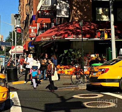Photograph - Sunny Corner - October In New York by Miriam Danar
