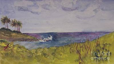 Painting - Sunny Day At Boca Inlet Beach by Donna Walsh