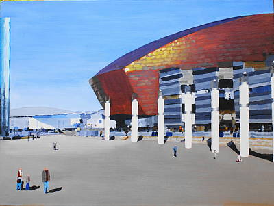 Painting - Sunny Day At Cardiff Bay by Frank Hamilton