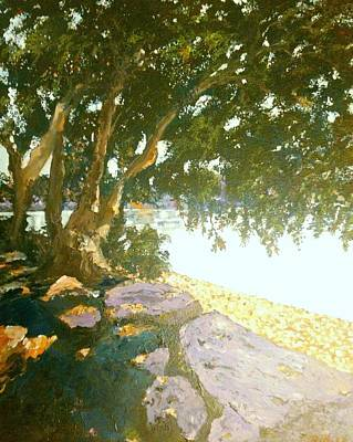 Painting - Sunny Day By An Old Tree by Ray Khalife