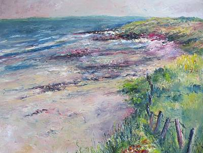 Sanddunes Painting - Sunny Day In Fanore by Niamh Slack