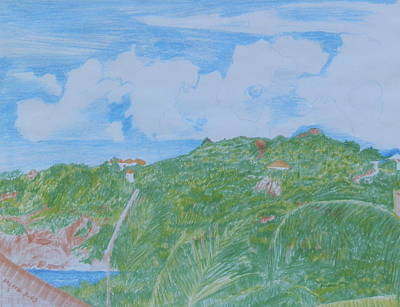 Sunny Day In Guana Bay Art Print by Margaret Brooks
