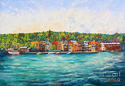 Painting - Summer In Skaneateles Ny by Melanie Stanton