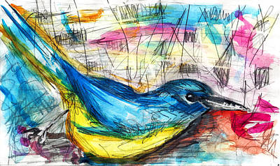 Magpies Mixed Media - Sunny Day by Jade Knights