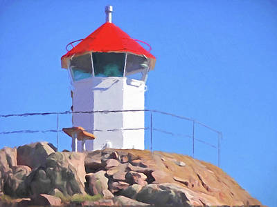 Lightscape Painting - Sunny Day Lighthouse by Lutz Baar