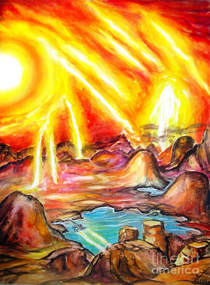 Sunny Day On Venus Planet Art Print by Sofia Metal Queen
