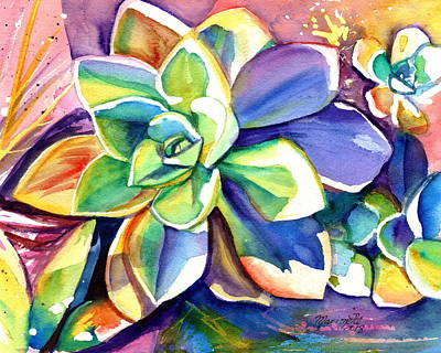 Painting - Sunny Day Succulent by Marionette Taboniar