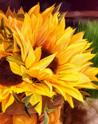 Sunny Day Sunflower Original by Mary Timman