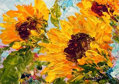 Painting - Sunny Day Sunflowers by Barbara Pirkle