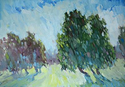 Albert Bierstadt - Sunny day. Trees by Sergey Avdeev