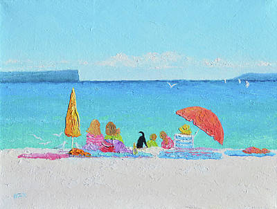 Painting - Sunny Days At Hyams Beach Jervis Bay  by Jan Matson