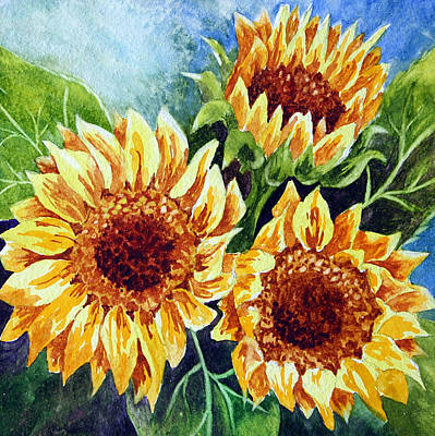 Watercolor On Aquabord Painting - Sunny Days by Nancy Goldman