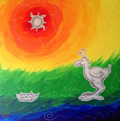 Ostrich Mixed Media - Sunny Disposition by Becky Chapin