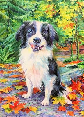 Painting - Sunny Dog by Svetlana Nassyrov