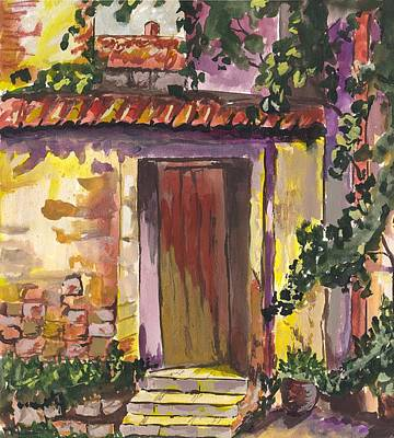 Digital Art - Sunny Doorway by Darren Cannell