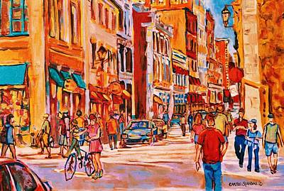 Urbanscene Painting - Sunny Downtown  by Carole Spandau
