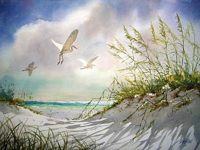 Gulf Coast Wall Art - Painting - Sunny Dune by Tom  Bond