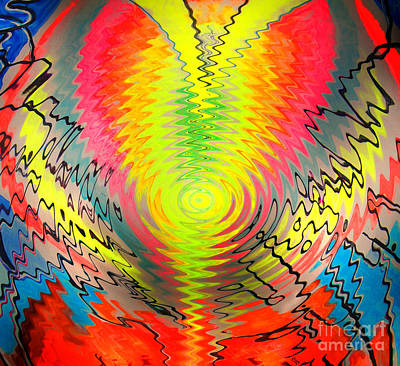 Flash Works Digital Art - Sunny Energy Of Positive Thinking by Sofia Metal Queen