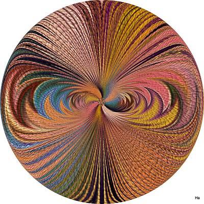 Digital Art - Sunny Feathers by Halina Nechyporuk