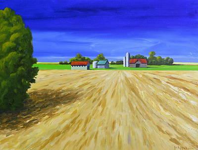 Painting - Sunny Fields by Jo Appleby