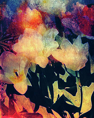 Digital Art - Sunny Floral Abstract by Femina Photo Art By Maggie