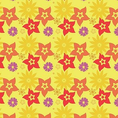 Digital Art - Sunny Flowers by Becky Herrera