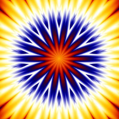 Seventies Digital Art - Sunny Fractal Tie Dye by Ruth Moratz