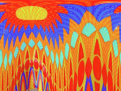 Digital Art - Sunny Garden by Ann Johndro-Collins